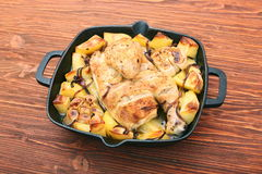 Chicken stew with potatoes and spices Stock Image