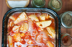 Chicken stew view Stock Photos