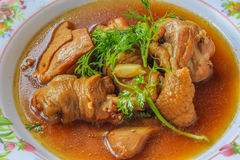 Chicken stewed in the sweet gravy (Kai Pa Lo) / Kai Pa Lo Royalty Free Stock Images