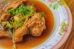 Chicken stewed in the sweet gravy (Kai Pa Lo) / Kai Pa Lo Stock Images