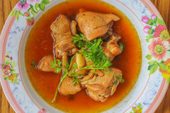 Chicken stewed in the sweet gravy (Kai Pa Lo) / Kai Pa Lo Royalty Free Stock Photography