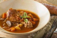 Chicken stewed Stock Photo