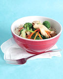 Chicken stir-fry bowl Royalty Free Stock Photo