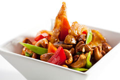 Chicken Stir-Fry Cashew. And Vegetables with Sweet Sauce Royalty Free Stock Photos