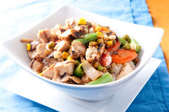 Chicken stir fry, farm fresh vegetables Stock Photos