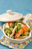 Chicken stir fry with vegetables Royalty Free Stock Photos