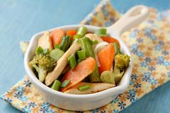 Chicken stir fry with vegetables Royalty Free Stock Images