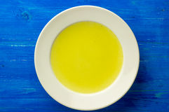 Chicken stock, bouillon, broth, clear soup Stock Photos