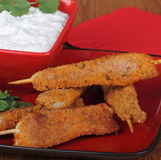 Chicken Strip Skewers Stock Images