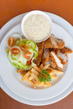 Chicken strips and fries combo Royalty Free Stock Photo