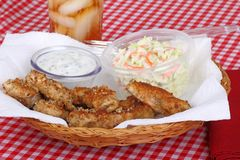 Chicken Strips Meal Royalty Free Stock Photos