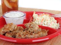 Chicken Strips Meal Royalty Free Stock Photography