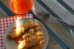 Chicken strips Stock Photos