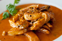 Chicken stroganoff Royalty Free Stock Image