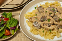 Chicken Stroganoff Stock Image