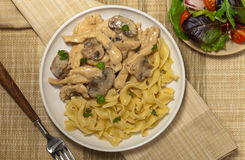 Chicken Stroganoff Stock Photography