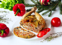 The chicken stuffed Royalty Free Stock Photography
