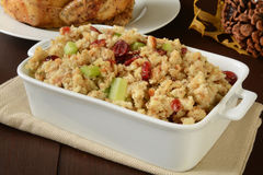 Chicken stuffing with cranberry Stock Photos