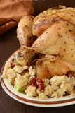 Chicken and stuffing Royalty Free Stock Photo