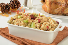 Chicken stuffing wiht cranberries Royalty Free Stock Photography