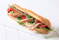 Chicken sub sandwich Royalty Free Stock Photo
