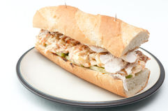 Chicken sub sandwich Royalty Free Stock Photos
