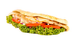 Chicken sub. On white background Royalty Free Stock Images