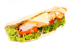 Chicken sub. On white background Stock Photography