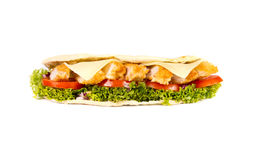 Chicken sub. On white background Stock Images