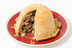 Chicken suet pudding horizontal Stock Photo