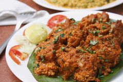 Chicken Sukka - A Preparation From Mangalore Royalty Free Stock Photo