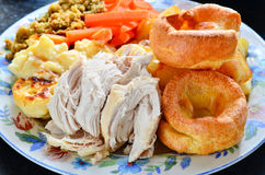 Chicken sunday lunch Stock Image