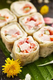 Chicken Sushi Roll Royalty Free Stock Photos