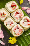 Chicken Sushi Roll Royalty Free Stock Photo