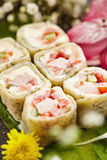 Chicken Sushi Roll Stock Photos