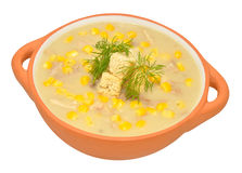 Chicken And Sweet Corn Soup Royalty Free Stock Photos