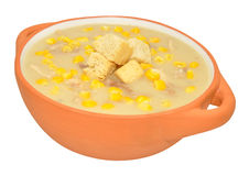 Chicken And Sweet Corn Soup Stock Photo