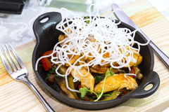 Chicken in sweet curry sauce Royalty Free Stock Photo