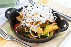 Chicken in sweet curry sauce Royalty Free Stock Photos