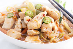 Chicken Sweet Sour Royalty Free Stock Photography