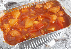 Chicken sweet and sour low angle Stock Photo