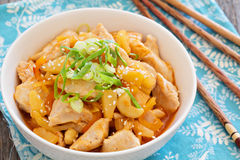 Chicken in sweet and sour sauce Stock Photo
