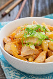 Chicken in sweet and sour sauce Stock Photos