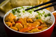 Chicken in sweet and sour sauce Stock Photography