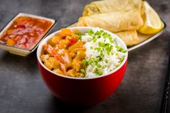 Chicken in sweet and sour sauce Royalty Free Stock Photos