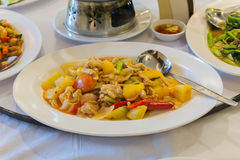 Chicken in sweet and sour souce. Thailand Food Sweet & Sour Stock Photo