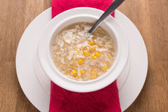 Chicken sweetcorn soup Royalty Free Stock Image