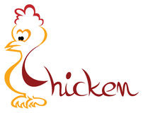 Chicken symbol Royalty Free Stock Photos