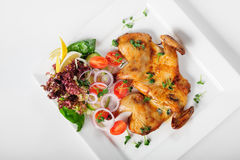 Chicken Tabaka, caucasian cuisine Royalty Free Stock Images