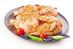 Chicken tabaka in marinade Royalty Free Stock Photos